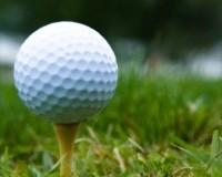 golf ball sits on tee on the grass standard golf equipment golf ball and standard tee