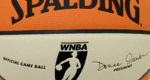 Spalding women's basketball standard equipment for WNBA basketball ball