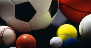 balls of all sports laying on the ground soccer ball basketball baseball golf ball tennis ball softball ball ping pong ball handball ball