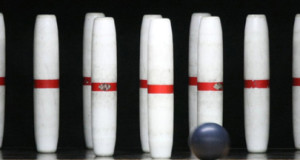 candlepin set white pins with red stripes small black ball candlepin ball basic equipment candle pins candle pin bowling ball