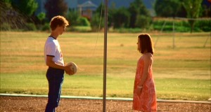 napoleon dynamite playing tetherball yellow ball on a string hanging off a pole